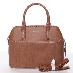 Luxusní a originální dámská koňaková kabelka – David Jones Admeta koňak