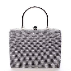 Dámské perleťové psaníčko stříbrné – Michelle Moon V4100 stříbrná