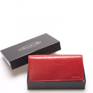 Velká dámská kožená peněženka červená – Bellugio Caeneus červená