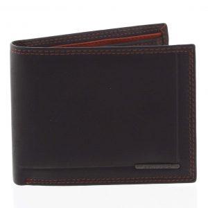 Pánská volná prošívaná peněženka černá – Bellugio Pann černá