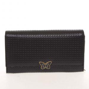 Elegantní dámská polokožená černá peněženka – Cavaldi PX202 černá