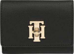 Tommy Hilfiger Dámská peněženka Th Lock Med Flap Wallet Black