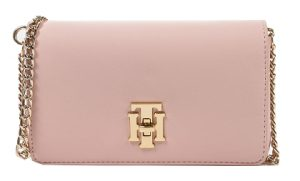 Tommy Hilfiger Dámská crossbody kabelka Th Lock Mini Xover Sepia Rose