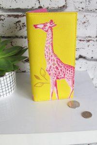"""Disaster žlutá peněženka Heritage and Herlequin """"Giraffe"""" Wallet"""