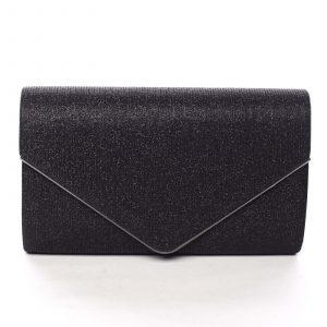 Dámské třpytivé psaníčko černé – Michelle Moon L828 černá