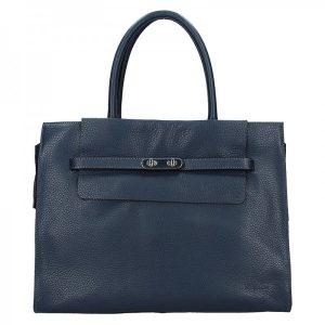 Elegantní dámská kožená kabelka Katana Aurora – modrá