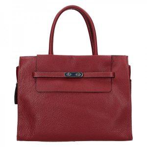 Elegantní dámská kožená kabelka Katana Aurora – vínová