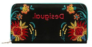 Desigual Dámská peněženka Mone Adaggio Zip Around Negro 20SAYP16 2000