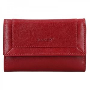 Dámská kožená peněženka Lagen Ginas – červená