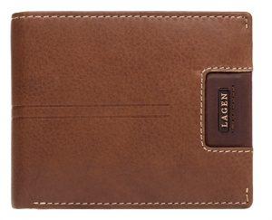 Lagen Pánská kožená peněženka LG-1134 OAK BRN