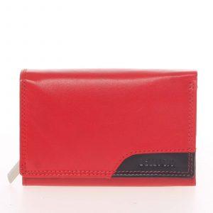 Moderní dámská kožená peněženka červená – Bellugio Oleisia červená