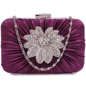 Dámské psaníčko LS Fashion Olivia – fialová