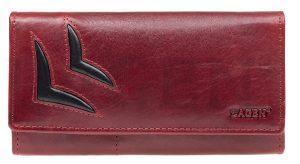 Lagen Dámská kožená peněženka 6011/T Red/Bl