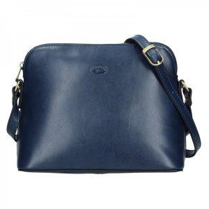 Kožená dámská crosbody kabelka Katana Nicolet – modrá