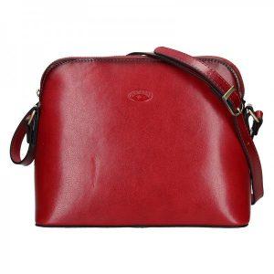 Kožená dámská crosbody kabelka Katana Nicolet – červená