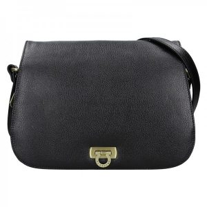 Dámská kožená kabelka Hexagona Alessia – černá