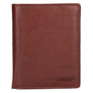 Pánská kožená peněženka Lagen Kliom – hnědá