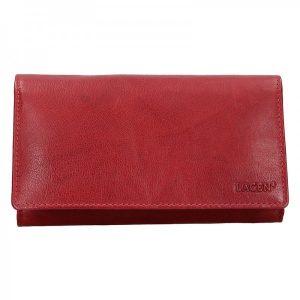 Prostorná dámská kožená peněženka Lagen Berta – červená