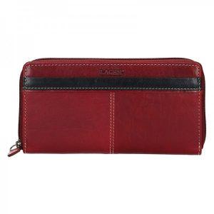 Dámská kožená peněženka Lagen Philia – červeno-černá