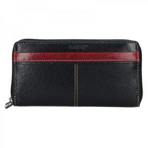 Dámská kožená peněženka Lagen Philia – černo-červená