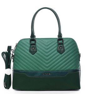 Dámská kabelka do ruky zelená – David Jones Roshel zelená