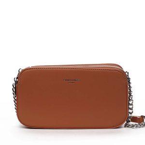 Malá dámská crossbody kabelka oranžová – David Jones Lily oranžová