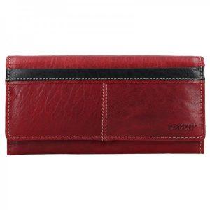Dámská kožená peněženka Lagen Katka – červeno-černá