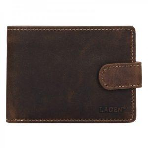 Pánská kožená peněženka Lagen Oleg – tmavě hnědá