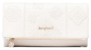 Desigual bílá peněženka Mone Alegria Rocio s výšivkou