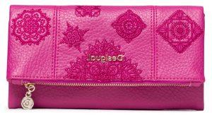 Desigual fuchsiová peněženka Mone Alegria Rocio
