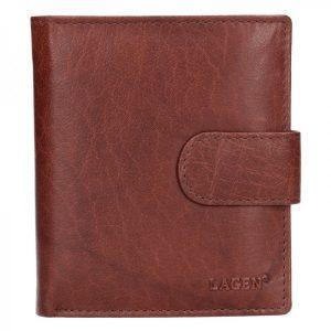 Pánská kožená peněženka Lagen Katini – hnědá