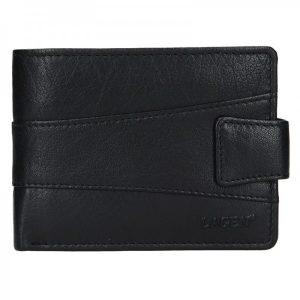 Pánská kožená peněženka Lagen Kevin – černá