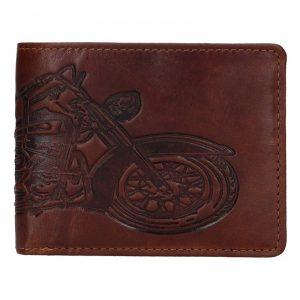 Pánská kožená peněženka Lagen Moto – hnědá