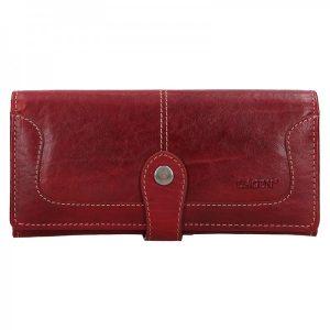 Dámská kožená peněženka Lagen Berta – červená