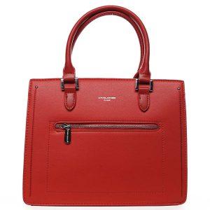Dámská kabelka do ruky červená – David Jones Samentha červená
