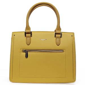 Dámská kabelka do ruky žlutá – David Jones Samentha žlutá