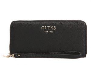 Guess Dámská peněženka Vikky Slg Large Zip Around black-bla