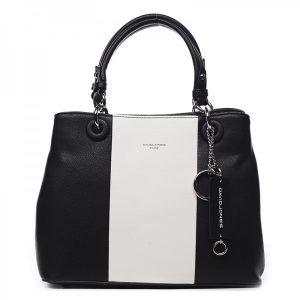 Dámská kabelka David Jones Diane – černo-bílá