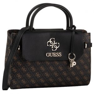Guess Dámská kabelka Esme Girlfriend Satchel brown-bro