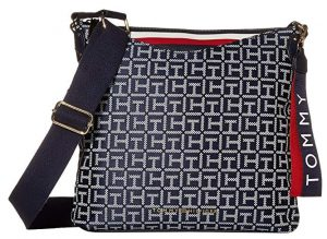 Tommy Hilfiger Dámská crossbody kabelka Walker Jacquard Crossbody Navy/White