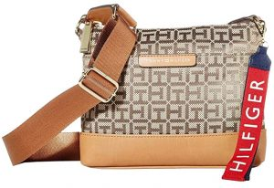 Tommy Hilfiger Dámská crossbody kabelka TH Lottie Crossbody Tan Dark Chocolate