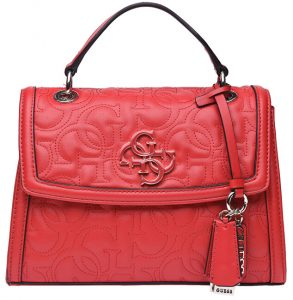 Guess Dámská kabelka New Wave Top Handle Flap red-red