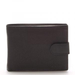 Kožená peněženka černá – Delami 8693 černá