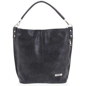 Elegantní dámská kabelka přes rameno tmavě šedá se vzorem – Ellis Negina šedá