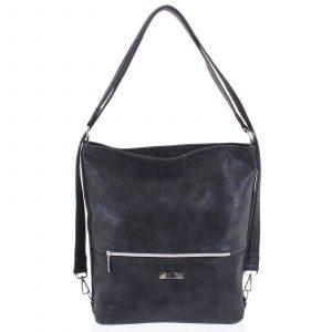 Módní dámská kabelka batoh tmavě šedá se vzorem – Ellis Patrik šedá