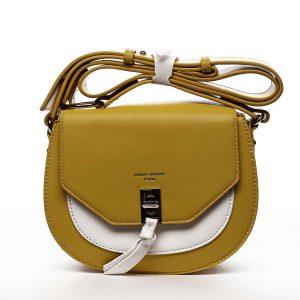 Dámská crossbody kabelka žlutá – David Jones Rapida žlutá