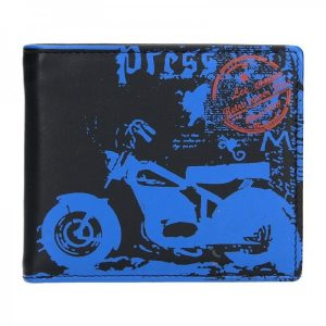 Pánská kožená peněženka DD Anekta Oskar – černo-modrá