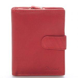 Dámská kožená peněženka červená – Delami Celestiel červená