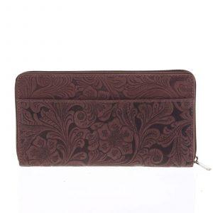 Dámská kožená peněženka bordó – Tomas Imvilophu vínová