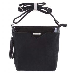 Dámská crossbody kabelka černá – Silvia Rosa Shatter černá